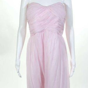 Donna Morgan Pink Silk NEW Zip Knee Length Gown 22